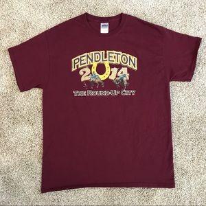 Pendleton Round-Up Rodeo 2014 Tee T-Shirt, Large